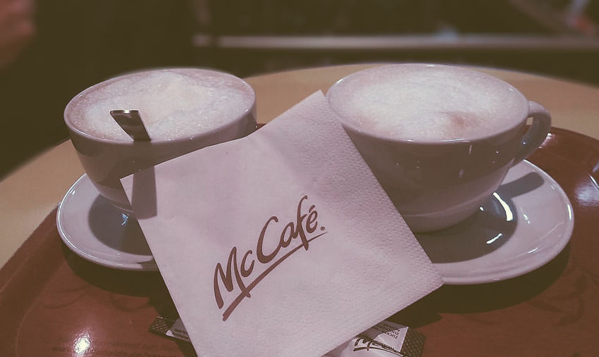 Brown Cafe Cafe Time Capuccino Close-up Cofee Communication Day Drink Indoors  Latte Light And Shadow Mcdonalds No People Russia Snapseed Text VSCO VSCO Cam Vscocam Vscofilm Vscogood Vscogrid Vscophile Warm