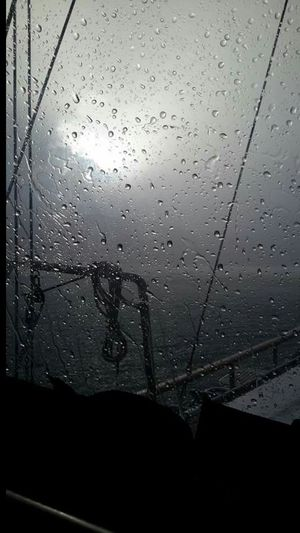 It is not always sunny on the Sea . Rainy Days Rain On Glass Rain On The Way Wooden Boat Boat Trip Bodrum, Turkey Hard Times No Filter Rain Drops Shades Of Grey