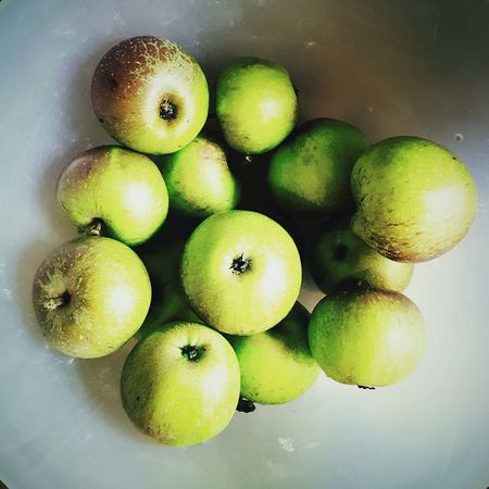This Is Summer day 30. A Bowl Of Apples Apples Fresh From The Garden Still Life Fruit Green Color Close-up Shiny
