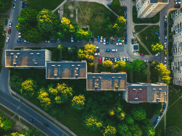 Residential buildings Aerial Shot Architecture Block Flats Block House DJI X Eyeem Drone  Lietuva Aerial Aerial View Architecture Building Building Exterior Built Structure City Day Europe Glass - Material Green Color Growth High Angle View Mavic Mavic Pro Mode Of Transportation Nature No People Old Outdoors Plant Residential Building Road Transparent Transportation Tree Window The Architect - 2018 EyeEm Awards