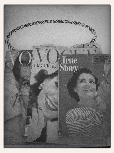 Magazines from the 50's Vogue Cover Truestory