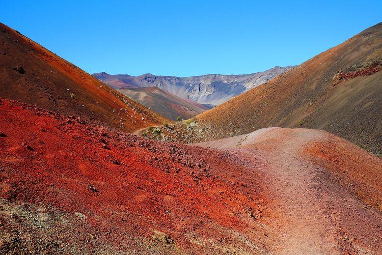 Volcanic Red Haleakala Maui Hike Volcano