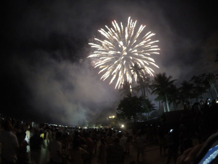 Arts Culture And Entertainment Celebration Crowd Event Exploding Firework Firework - Man Made Object Firework Display Gopro Illuminated Large Group Of People Low Angle View Night Outdoors People Real People Sky Smoke - Physical Structure HUAWEI Photo Award: After Dark