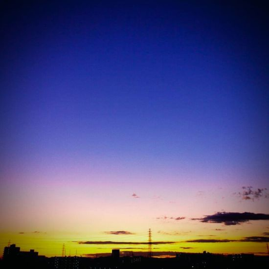 Blue Sky Dramatic Sky Sunset Silhouette Nature Scenics Beauty In Nature Evening Cloud Japan Cloud - Sky Tokyo City Life Ordinary Day