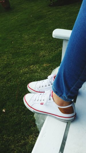 Green Grass Shoes White Red Jeans Nature Photography Feet Daytime Summer Jarabacoa WhiteWood
