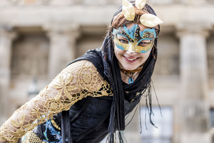 Beltane 2017 Beltane Fire Festival Carnival - Celebration Event Close-up Costume Edinburgh EyeEmNewHere Headdress Headwear Mask - Disguise Outdoors People Smiling The Mound Venetian Mask