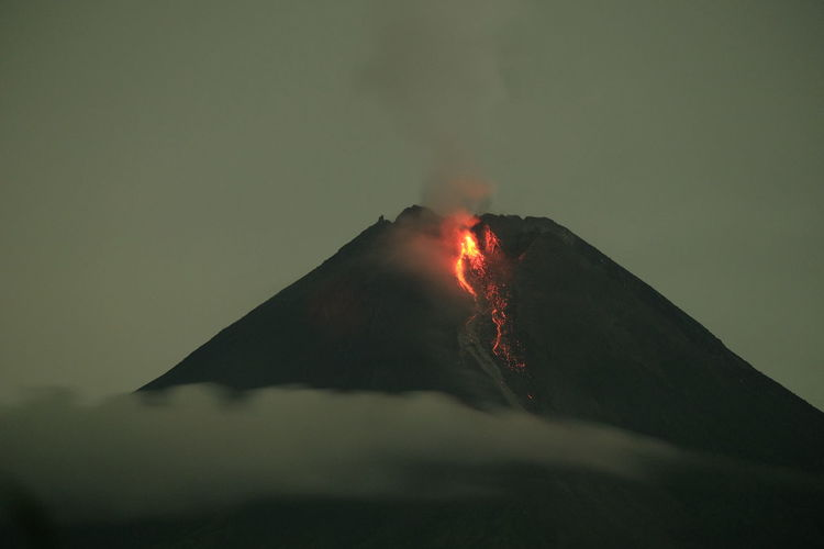 The eruption of merapi mountain, 21 januari 2021
