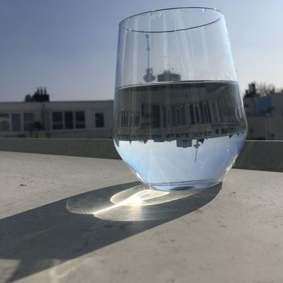 Drink Outdoors Water Glass Reflection