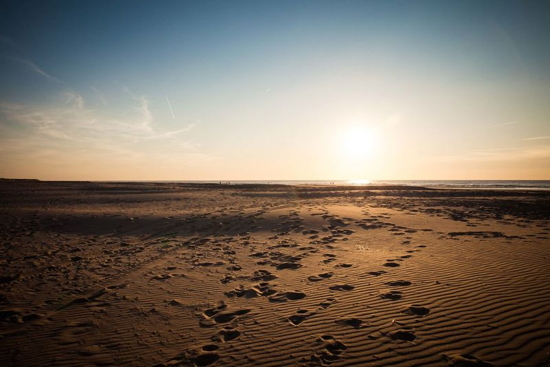 Netherlands Strand Beach Day Foot Prints Foot Steps Landscape Nature No People Outdoors Sand Scenics Sea Sky Sun Sunset Tranquil Scene Tranquility Water