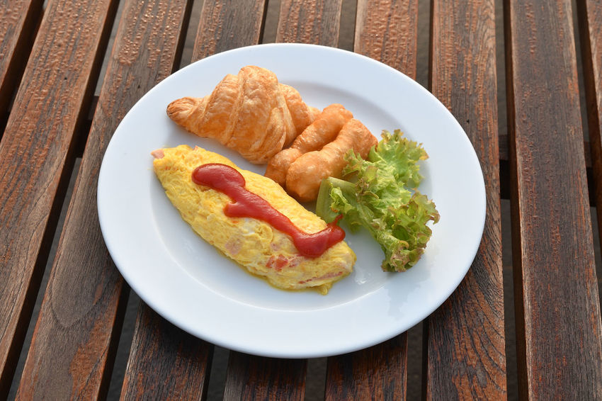 Breakfast Breakfast Close-up Day Food Food And Drink Freshness Indoors  No People Omelette Plate Ready-to-eat Table