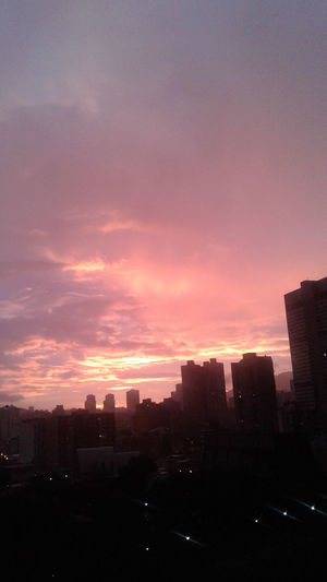 Sunset Cityscape City Urban Skyline Sky Landscape Caracas Dusk