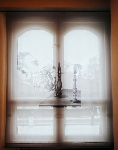 Different view... Window Looking Through Window Window Sill Day Indoors  No People Curtain Curtains Interior Design Interior Architecture Science Museum  Science And Technology Science Medicine History Historical Building Huaweiphotography Huawei P9 Leica Charité Campus Virchow-Klinikum (CVK)