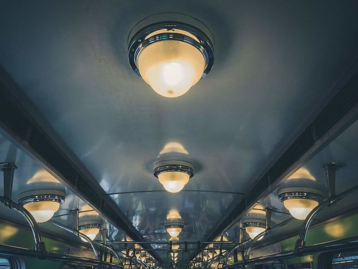 Low Angle View No People Illuminated Architecture EyeEm Best Shots Eyeemphotography EyeEm Gallery Repetition Adapted To The City Motion Close-up Lights Subway Subway Train Budapest