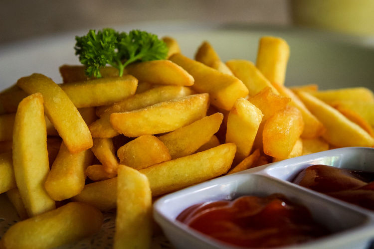 French Fries Fast Food Deep Fried  Prepared Potato Close-up Food And Drink French Fries Ketchup Fried Food Mayonnaise Fast Food French Fries Fried Starter Fried Potato Paper Plate