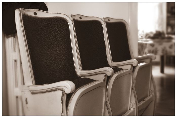 Blackandwhite Chair Cinema Close-up Indoors  No People Seat Theatre EyeEmNewHere