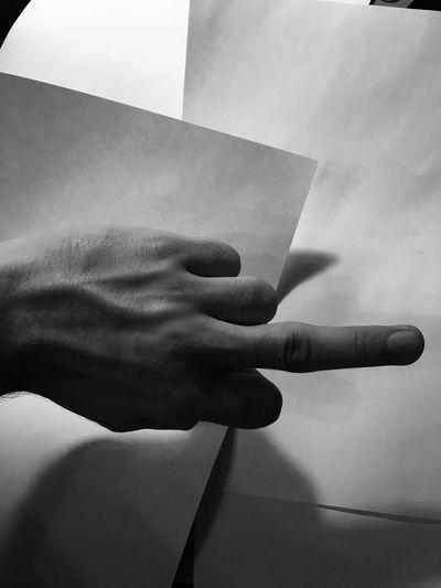 Cropped Hand Gesturing Obscene Gesture