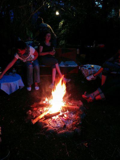 Gardenpartytime Burning Night Flame Glowing Burning Outdoors Summer Exploratorium