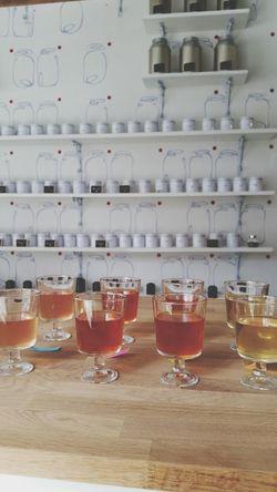 Lemonade Iced Tea: Oolong Melon, Blackberry Rooibos, Lemon Mint Rooibos and Jasmine Green tea. (From left to right). Tea Looseleaf Tealover  Icedtea