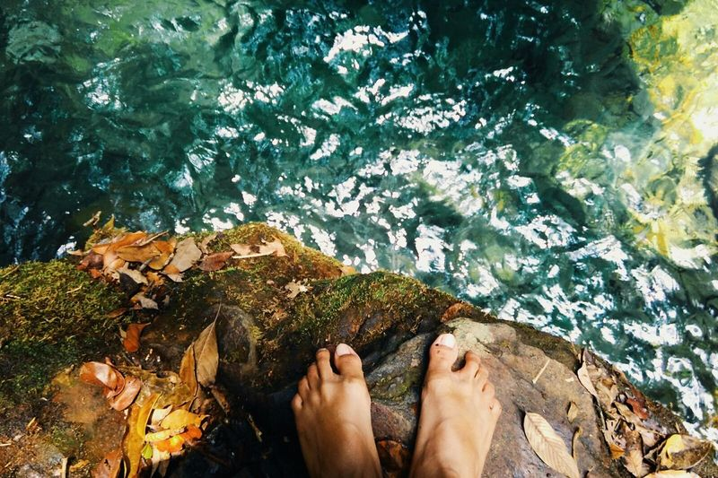 I Want To Jump and Feel The Journey Blue Water Stones & Water Wildlife & Nature