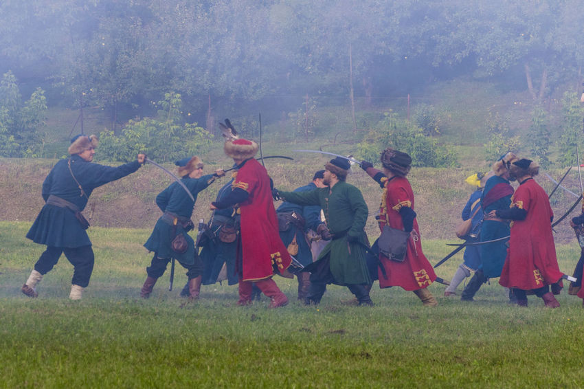 Historical Reconstruction Historical Reenactment Reconstruction Group Battle Casual Clothing Fencing Large Group Of People Leisure Activity People Saber