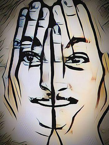 human face close-up Art, drawing, creativity finest art