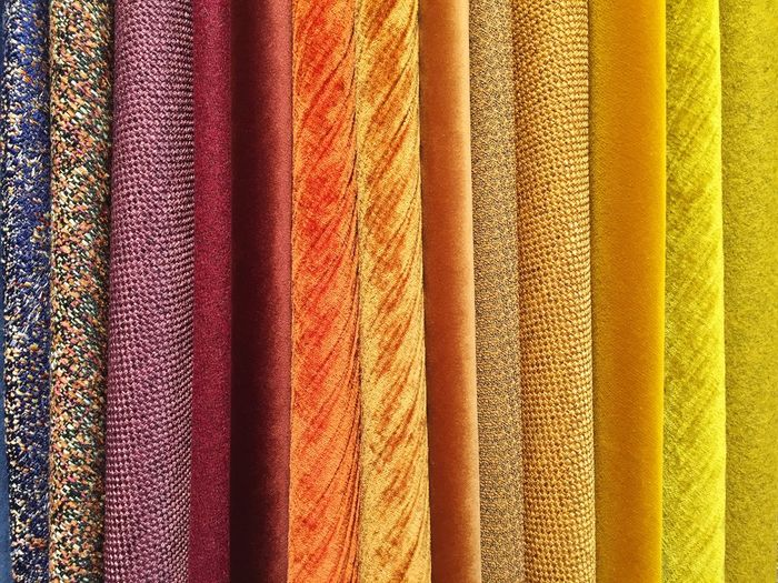 Rainbow Colors Textile Rainbow Full Frame Backgrounds Multi Colored Pattern Textile No People Variation Textured  For Sale Retail  In A Row Hanging Close-up Still Life Choice Arrangement Yellow Indoors  Side By Side Store