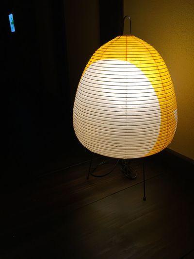 Electric lamp in dark room