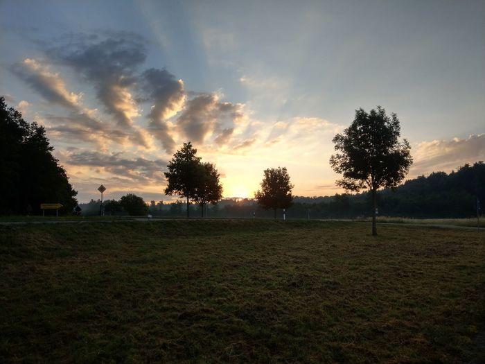 Frankenhardt Light And Shadow Morning Morning Light Morning Sky Farmland