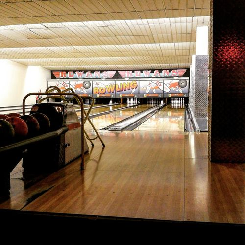 Going bowling Indoors  No People Illuminated Built Structure Bowling Bowling Alley Game Bowling Time Vintage Artificial Light