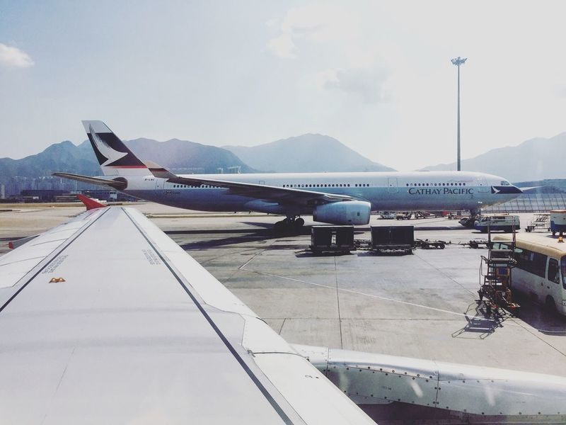 Airbus A330 A320 Airbus A330 Cx Cathay Pacific Dragonfly HKG Hong Kong Chek Lap Kok Airport Beautiful Aircraft