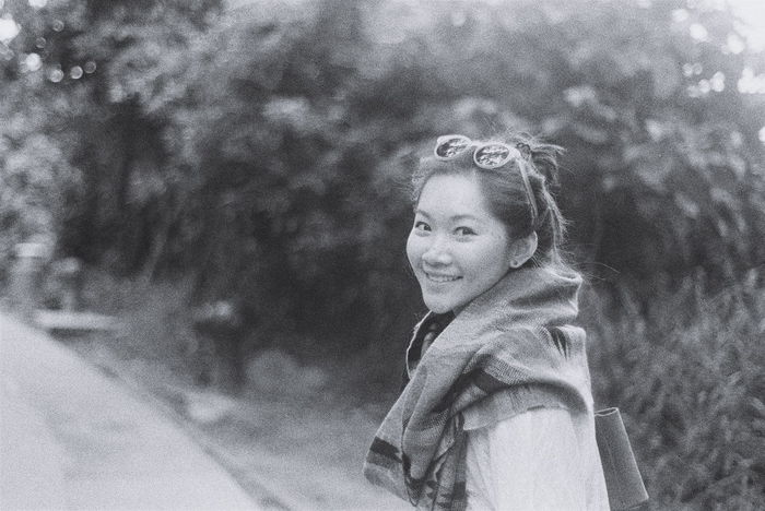 Portrait Natural Film Photography Filmisnotdead Istillshootfilm Nature Expired Film Nikonfm  Natural Smile Black And White Enjoying The Sun Memories Girl Outdoor 50mm F1.8 Bnw Bnw Portrait HongKong From My Point Of View Film Photographic Memory Weekend Activities Artistic Expression Freezethemoment Welcome To Black Welcome To Black Welcome To Black