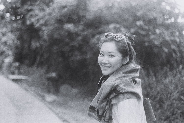 Portrait Of A Woman Portrait Photography portrait of a friend Welcome To Black Bnw Portrait Natural Film Photography Filmisnotdead Istillshootfilm Nature Expired Film Nikonfm  Natural Smile Black And White Enjoying The Sun Memories Girl Outdoor 50mm F1.8 Bnw Bnw Portrait HongKong From My Point Of View Film Photographic Memory Weekend Activities Artistic Expression Freezethemoment