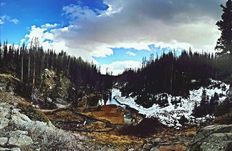 Wyoming Wide Angle Snow Sky