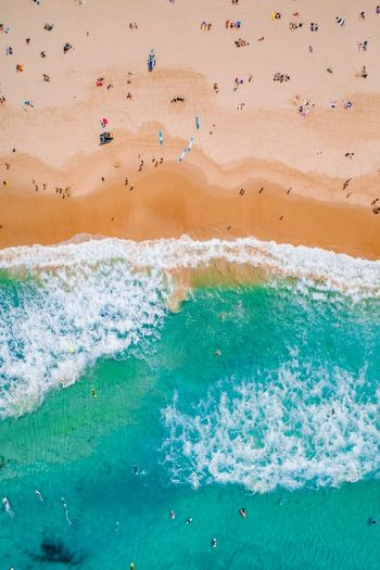 Bondi Lunchtime Wave Sea Beach Sand Water Sand Dune Backgrounds Close-up Landscape Surf Tide Coast Wake - Water Horizon Over Water Coastline Crashing Rocky Coastline Flowing Water Rushing Shore Seascape