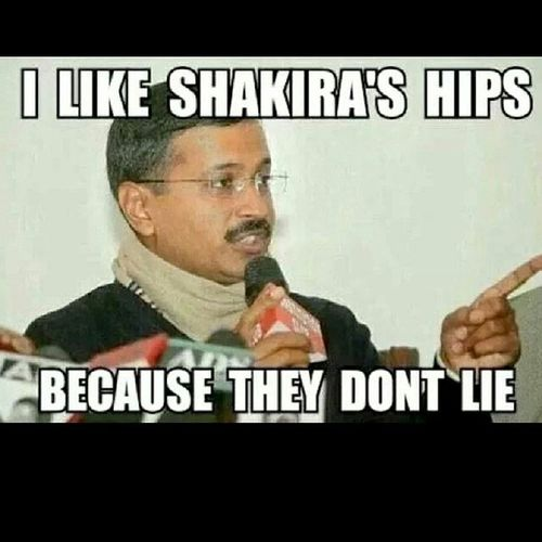 Indian politics. Arvindkejriwal Shakira Hips
