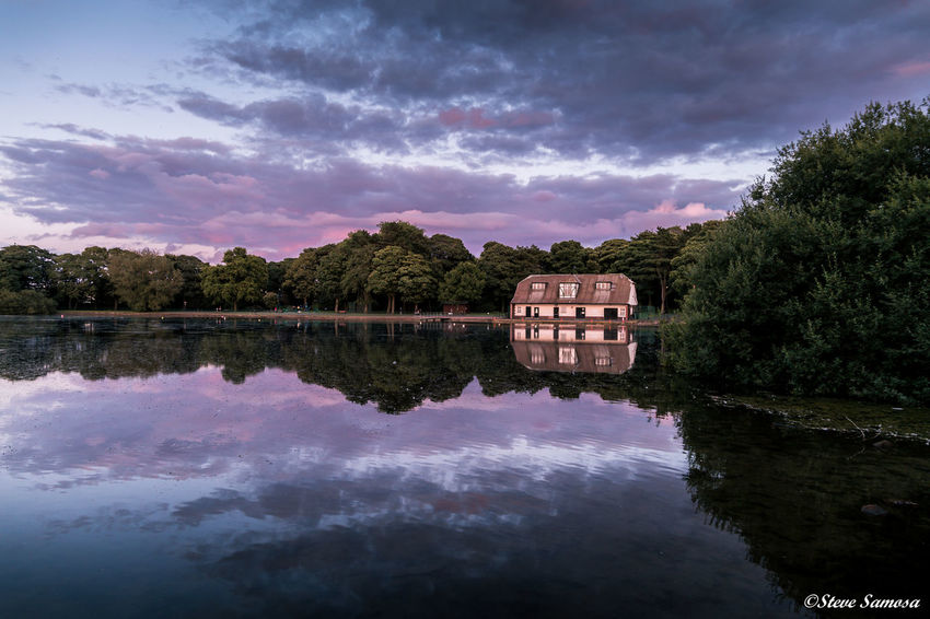 The Boat House Architecture Beauty In Nature Blue Boathouse Boats Built Structure Cloud - Sky Day England Lake Nature No People Outdoors Refelections Reflection Scenics Sky Sunset Tranquil Scene Tranquility Tree Water Waterfront