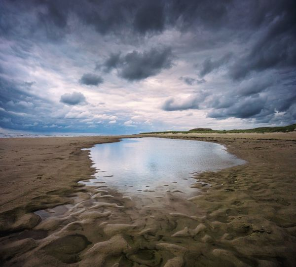 Hargen aan zee sunset Clouds Sunset Land Scenics - Nature Tranquility Landscape Nature Beach Sea Sand No People Tranquil Scene Outdoors Day
