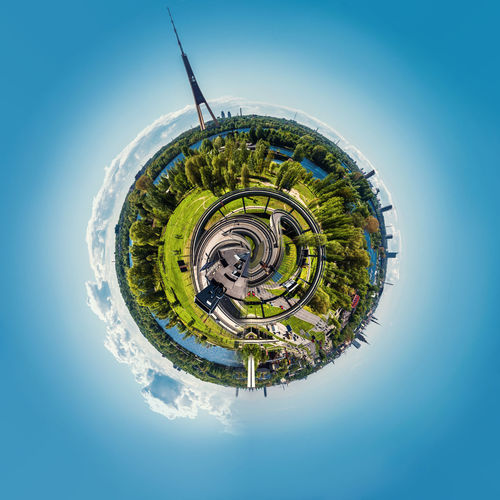 Little planet 360 degree sphere. Panoramic view of Riga city. Latvia 3 Dimensional 360 Degree Altered Image City Cityscape Latvia Panorama Panoramic Skyline Sphere TOWNSCAPE TV Tower Architecture Around Built Structure Digitally Generated Image Landscape Planet Planet Earth Riga Three Dimensional Three Dimentional Photography Urban Landscape Urban Skyline World