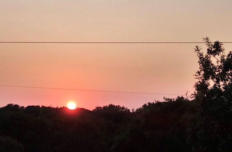 Sunset on labor Sunday the 3rd at 7:240pm Sunset Nature Sun Outdoors No People Landscape Sky Clear Sky Electricity  Telephone Line First Eyeem Photo