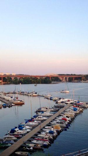 Årstabronn Stockholm, Sweden Harbour Boats