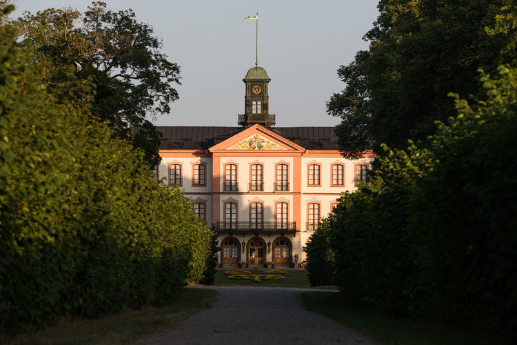 Castle of Tullgarn in evening ligth Royal Evening Light Castle Sweden Politics And Government Tree History Façade Architecture Sky Building Exterior Built Structure Palace