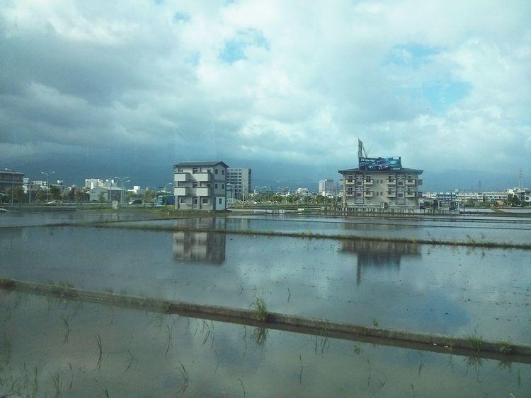 Entering Yilan, Taiwan. · Rural Landscape Fields Water Reflections Rainy Days