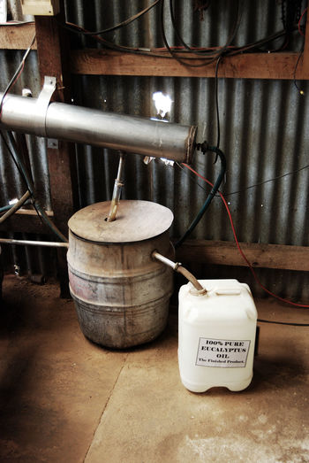 Details at a Eucalyptus Oil Distillery on Kangaroo Island, South Australia Agriculture Destillery Economy Farm Life Machine Rural Rustic Small Business Agricultural Machinery Close Up Close-up Day Detail Equipment Farming Freshness Indoors  Interior No People Technology Tools