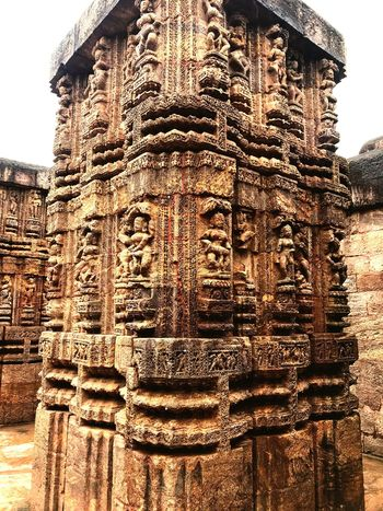 Konark Sun Temple Architecture Built Structure Building Exterior No People Day Building Sky