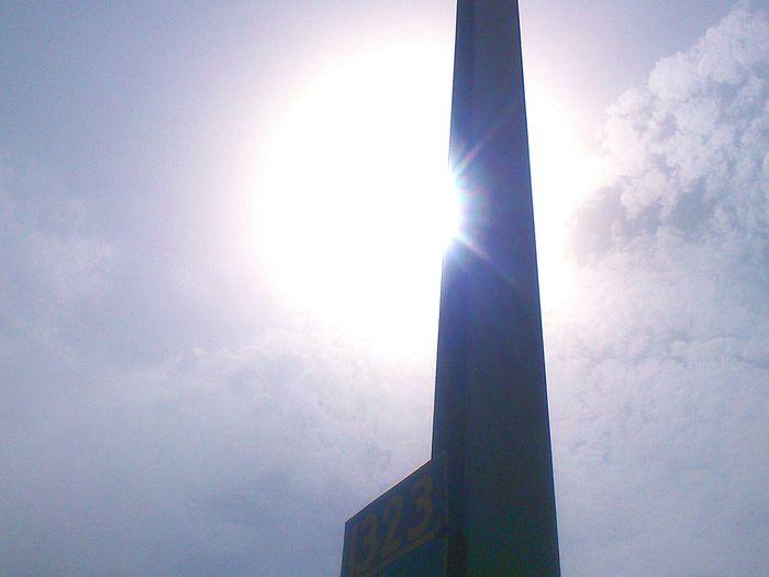 Railway track pole between me and sun Sun And Pole Sun Sunshine Sun And Sky The Great Outdoors - 2015 EyeEm Awards