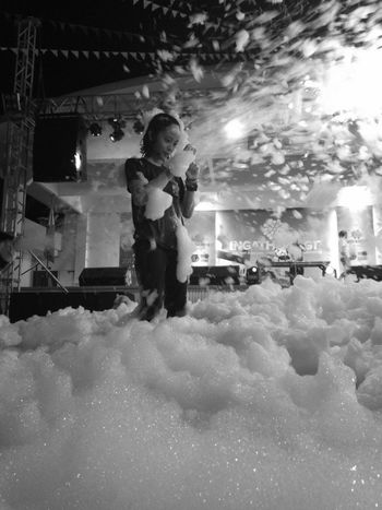One Person One Girl Only Child Standing Real People Bubble Foamparty