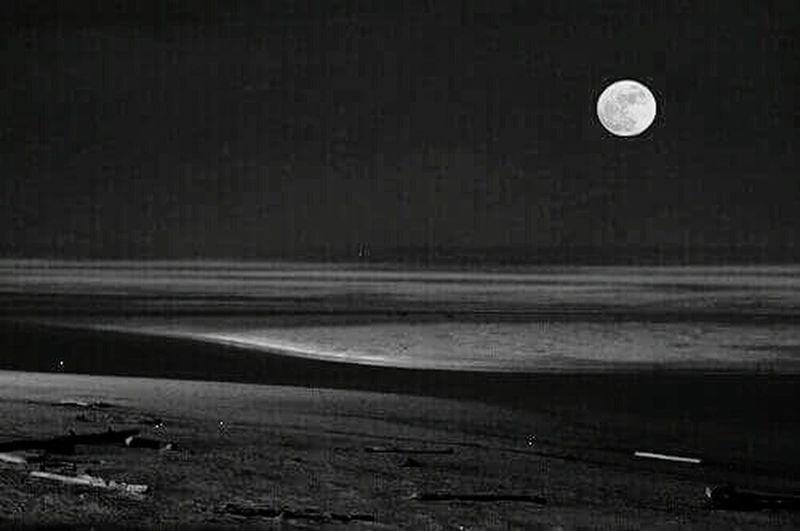 Minds Escaping Moon Outdoors Night Nature Lake Water Sky Photography Black & White Blackandwhite Streamzoofamily Moonbeam Moonlight