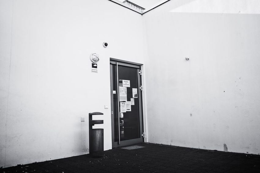 Architecture Urban Perspectives The Devil's In The Detail Urban Photography Street Photography Black & White Monochrome Architectural Feature On The Way Building Exterior Door Closed Door Entrance Closed Architectural Design Architectural Detail Building