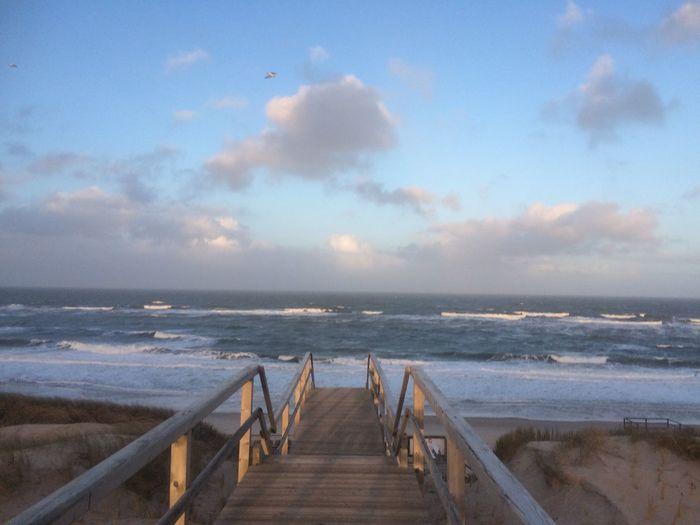 Sky Sea Horizon Over Water Water Horizon Cloud - Sky Beach