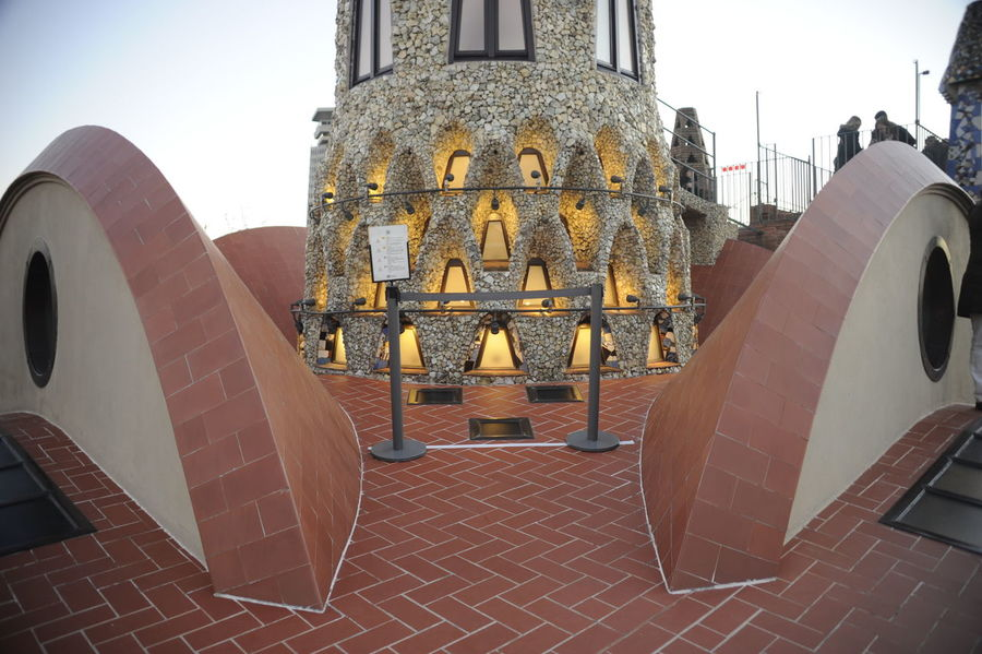 Oh So Gaudi Arch Architectural Feature Architecture Architecture Architecture_collection Barcelona Barcelona, Spain Building Exterior Built Structure City Day Europe Gaudi Gold Colored Low Angle View No People Outdoors Roof Rooftop Royalty Sculpture Sky SPAIN Spain♥ Sunset